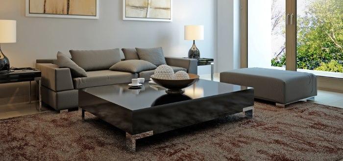 Mesas modernas mesa de centro moderna de cristal con mijo for Mesas de centro para sala modernas